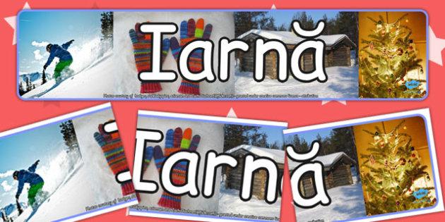 Banner  - Fotografii de iarna, imprimabile, Romanian