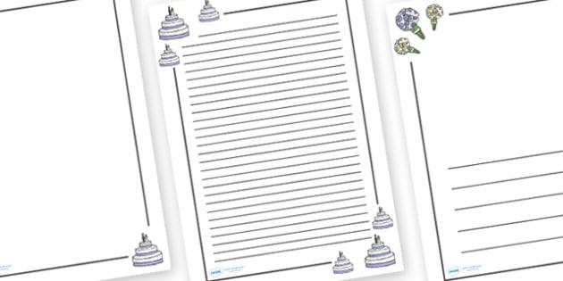 Wedding Page Borders - Weddings, Page border, border, writing Borders, wedding, marriage, bride, groom, church, priest, vicar, dress, cake, ring, rings, bridesmaid, flowers, bouquet, reception, love