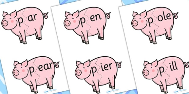 p Sound And Vowel Animal Jigsaw - sounds, vowels, jigsaw, animals