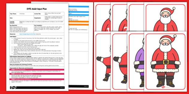 Santa Santa What Can You See Game EYFS Adult Input Plan and Resource Pack