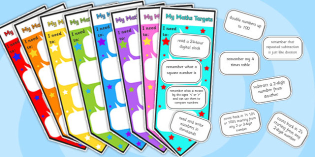 Level 3 Maths Assessment Bookmarks and Target Cut-Outs - level 3, maths assessment, maths, maths level 1, bookmarks, target stickers, maths sticker, numeracy