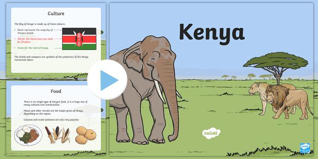 Kenya Information PowerPoint - kenya, kenya powerpoint, kenya information, kenya facts, facts about kenya, kenyan culture, kenyan food, africa, africa fact