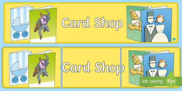 Card Shop Display Banner - cards, shop, card, display, banner, sign, poster