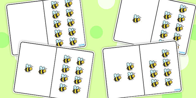 Bee Counting Number Bonds to 10 - numbers, numeracy, maths, count