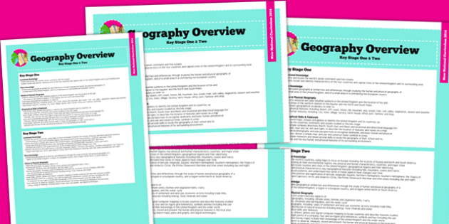 2014 Curriculum Geography Overview - new curriculum, lesson plan