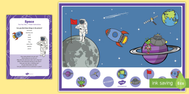 Space Can you Find...? Poster and Prompt Card Pack