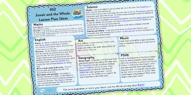 Jonah and the Big Fish Lesson Plan Ideas KS2 - lesson plan, KS2