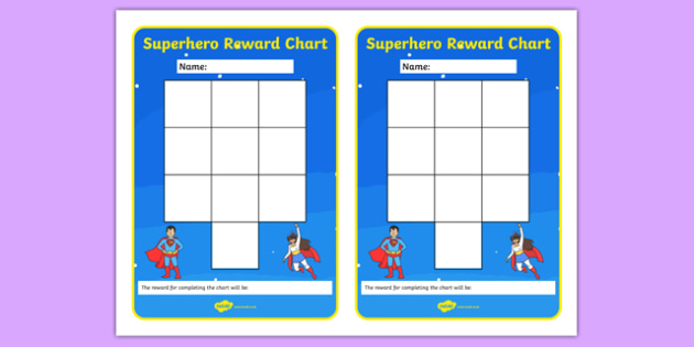 Superhero Themed Reward Chart - superhero, reward chart, reward, chart, display