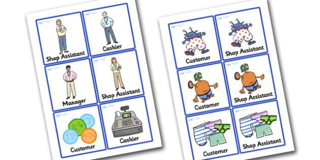Pant Shop Role Play Badges to Support Teaching on Aliens Love Underpants - paint, shop, paint shop, role, play, role play, badges, paint shop badges, shop badges, role play badges, badges for role play