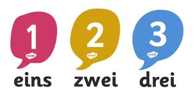 German Number 0-20 Posters - MFL, German, Modern Foreign Languages, German numbers, foundation, languages, display, numeracy, flashcards