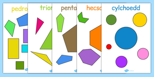 2D Regular and Irregular Shape Posters Cymraeg - cymraeg, welsh, 2d, regular, irregular, shape, posters, display