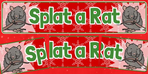 Christmas Themed Splat a Rat Banner - christmas fair, display banner, display, banner, splat a rat