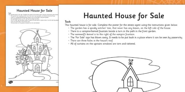 Haunted House for Sale Task - roi, republic of ireland, ireland, haunted house, sale, task