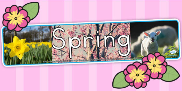 Four Seasons Photo Display Banner Spring - seasons, spring