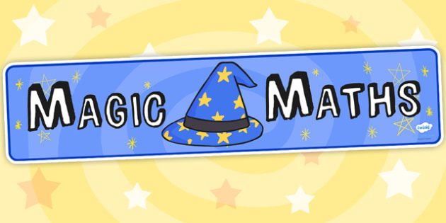 Magic Maths Area Display Banner - maths area, numeracy, banner