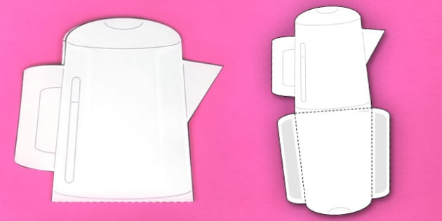 Interactive Kettle-Shaped Pocket Visual Aid Template - kettle, aid