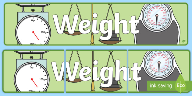 Weight Display Banner - displays, banners, measure, visual aid