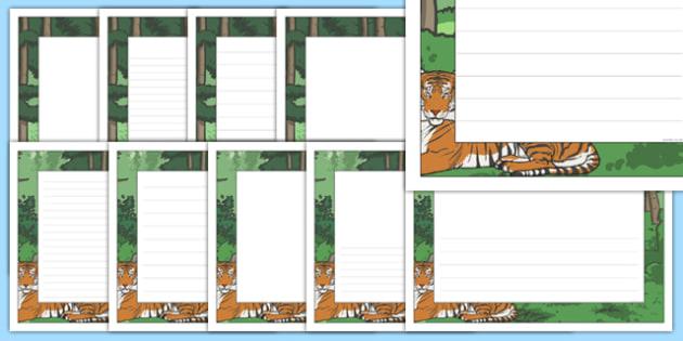 The Tyger Page Borders - tyger, page borders, page, borders, writing frame