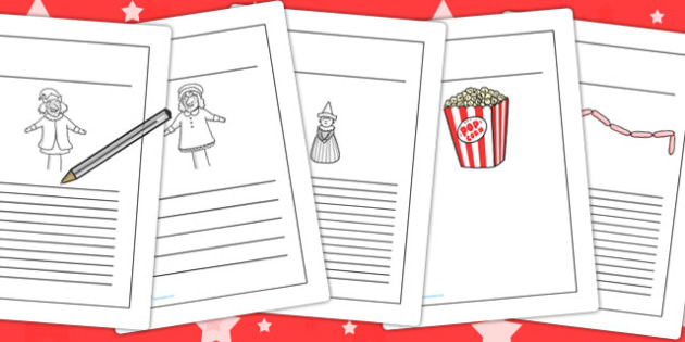 Punch and Judy Writing Frames - writing, frames, punch, judy