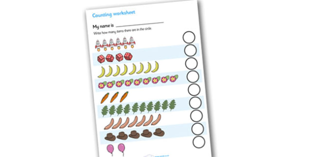My Counting Worksheet (General) - Counting worksheet,counting, activity, how many, foundation numeracy, counting on, counting back