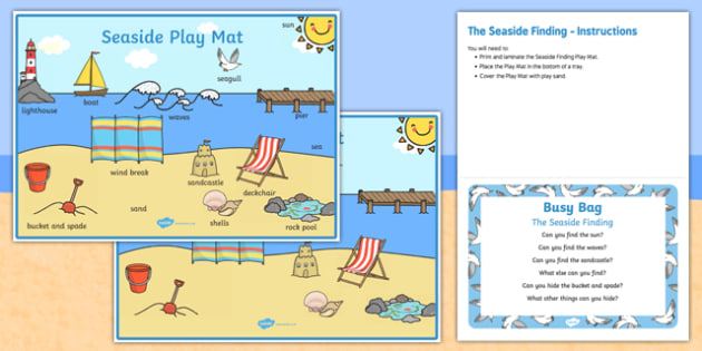 The Seaside Finding Busy Bag Prompt Card and Resource Pack