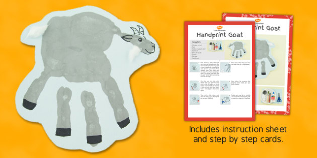 Handprint Goat Craft Instructions - goat, craft, instructions