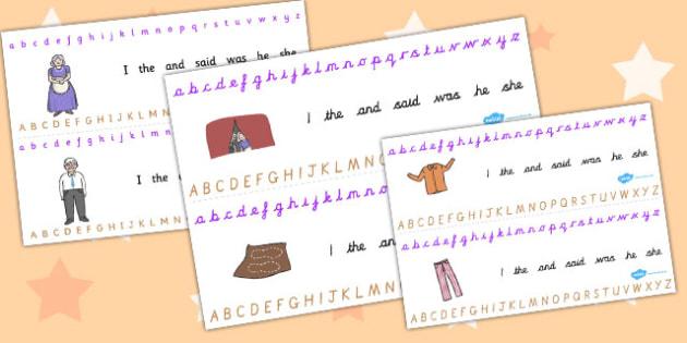 The Elves and the Shoemaker Alphabet Strips - alphabet, strips