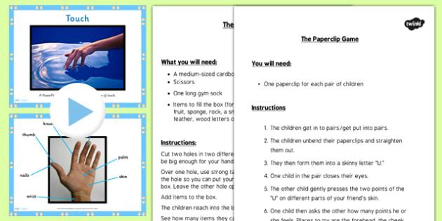 KS1 Science Senses Touch PowerPoint - touching, senses, sense