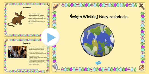 Prezentacja PowerPoint Wielkanoc na świecie po polsku