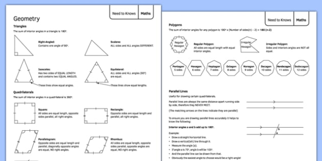 Geometry Support Sheet - geometry, support sheet, support, sheet, ks3, maths