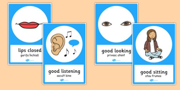 Good Listening Posters Romanian Translation - romanian, posters