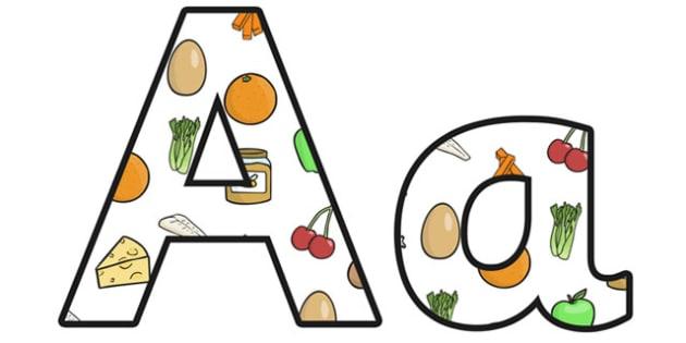Healthy Eating Lowercase Display Lettering - health, healthy