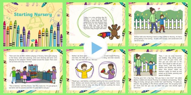 EYFS Starting Nursery Editable PowerPoint Story
