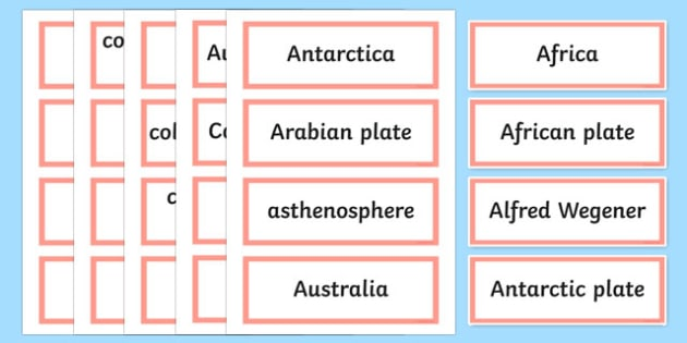 Earthquake Explorers Word Wall Display Cards - australia, Australian Curriculum, Earthquake Explorers, science, Year 6, word wall, display