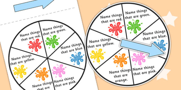Colour Category Spinner - colours, games, SEN games, visual aid