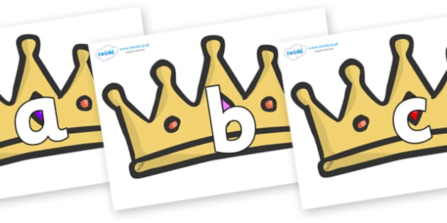 Phoneme Set on Crowns - Phoneme set, phonemes, phoneme, Letters and Sounds, DfES, display, Phase 1, Phase 2, Phase 3, Phase 5, Foundation, Literacy