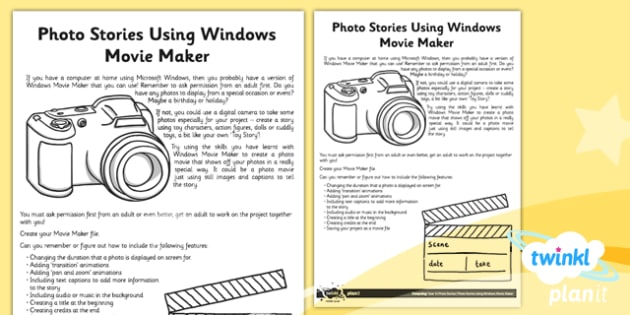 Computing: Photo Stories Year 4 Unit Home Learning Tasks