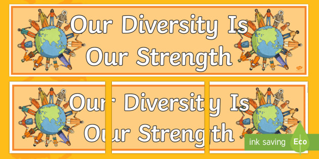 Harmony Day Our Diversity is Our Strength Display Banner - australia, harmony day, diversity, strength, display banner