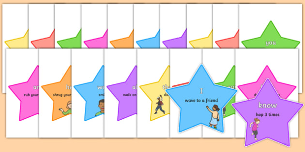 Tricky Words - Read and Do Word Stars