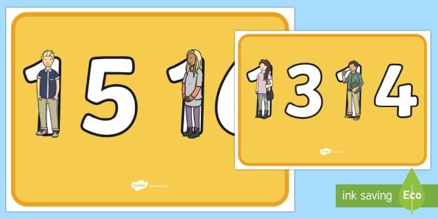Teen Numbers 2 Per A4 - teen numbers, teen, numbers, posters, display posters, display, 2 per a4, maths, mathematics