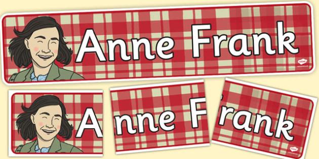 Anne Frank Display Banner - anne, frank, display banner, display