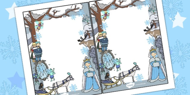 The Snow Queen Editable Notes - traditional, tales, edit, note