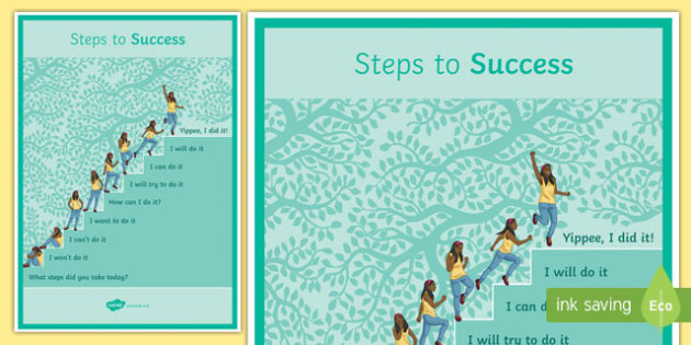 Steps to Success Poster - steps to success, poster, display poster, display, success