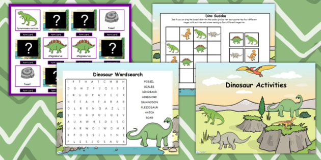 Dinosaur Themed Flipchart Activity Pack - dinosaur, activity pack