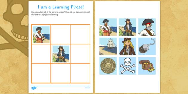 Pirates Learning Chart - pirates, learning chart, learning, chart, learn, fantasy