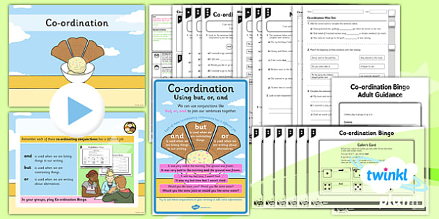 conjunctions, co-ordination, co-ordinating conjuctions, joining sentences, clauses, and, or, but, spag, grammar, y2, year 2, ks1, key stage one, planning, powerpoint, lesson