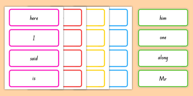 High Frequency Words Word Cards - nz, new zealand, high frequency words, word cards