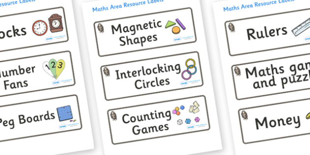Monkey Themed Editable Maths Area Resource Labels - Themed maths resource labels, maths area resources, Label template, Resource Label, Name Labels, Editable Labels, Drawer Labels, KS1 Labels, Foundation Labels, Foundation Stage Labels, Teaching Labe