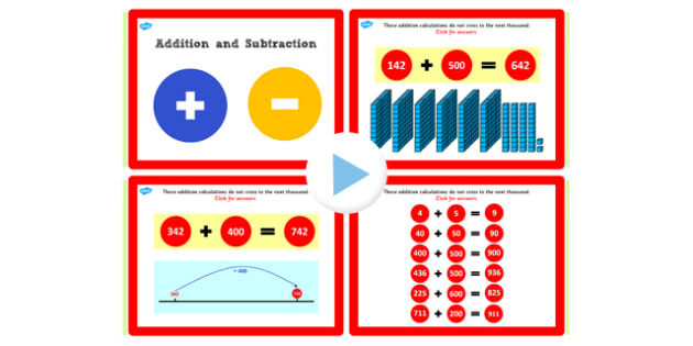 Y3 Addition Subtraction Lesson 1e Add Hundreds Not Crossing 1000