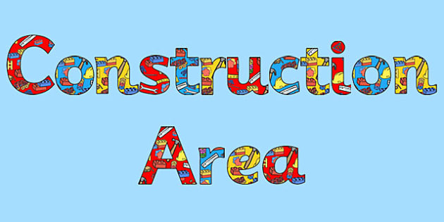 Construction Area Display Lettering - construction area, display lettering, letters, lettering, display alphabet, lettering for display, alphabet letters